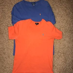 Pair of boys polo by Ralph Lauren shirts